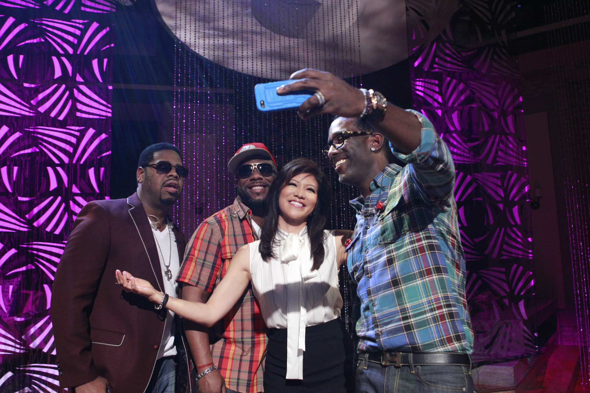 Julie With Boyz II Men.