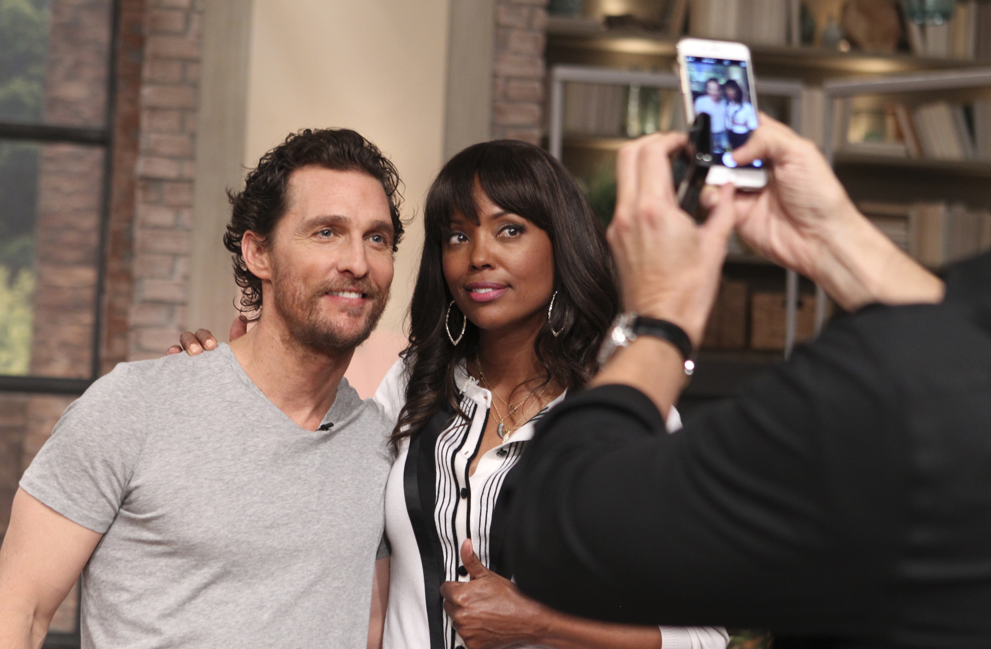 Aisha With Matthew McConaughey.