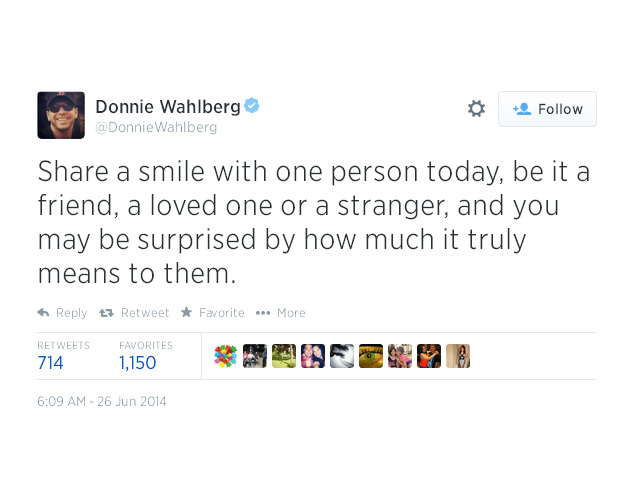 13. Share a smile with one person today...