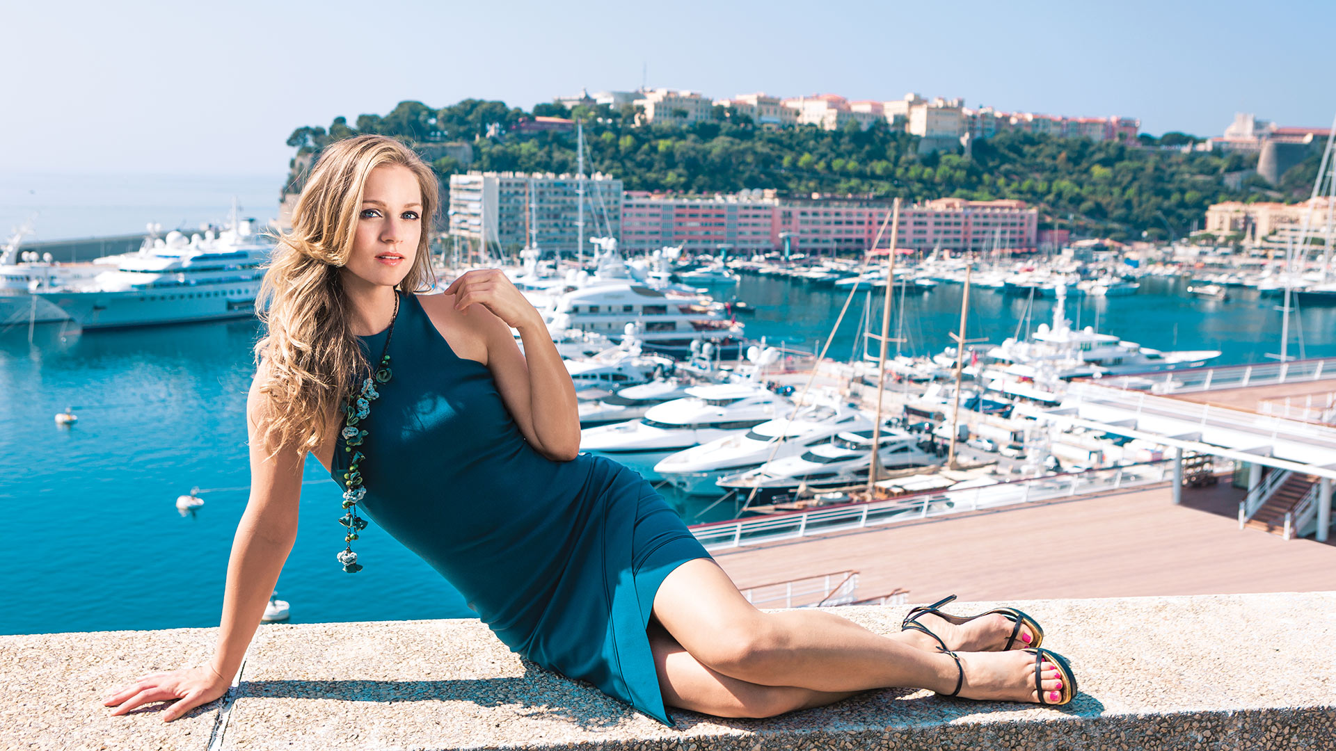 A.J. Cook loves a marina view