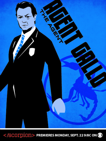 Scorpion Trading Cards - Agent Cabe Gallo