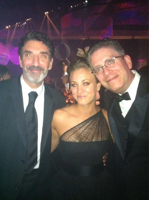 Kaley with Bill and Chuck