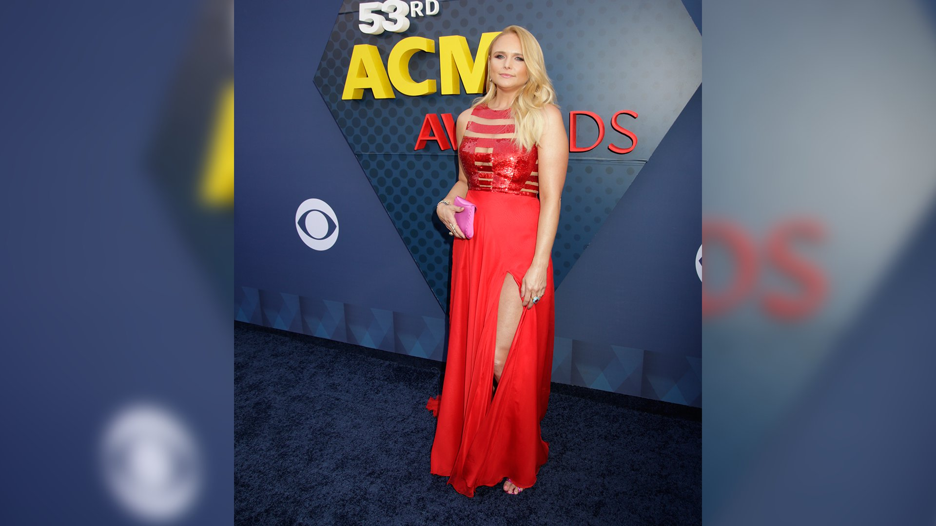 Red is the perfect color for Miranda Lambert to wear before playing