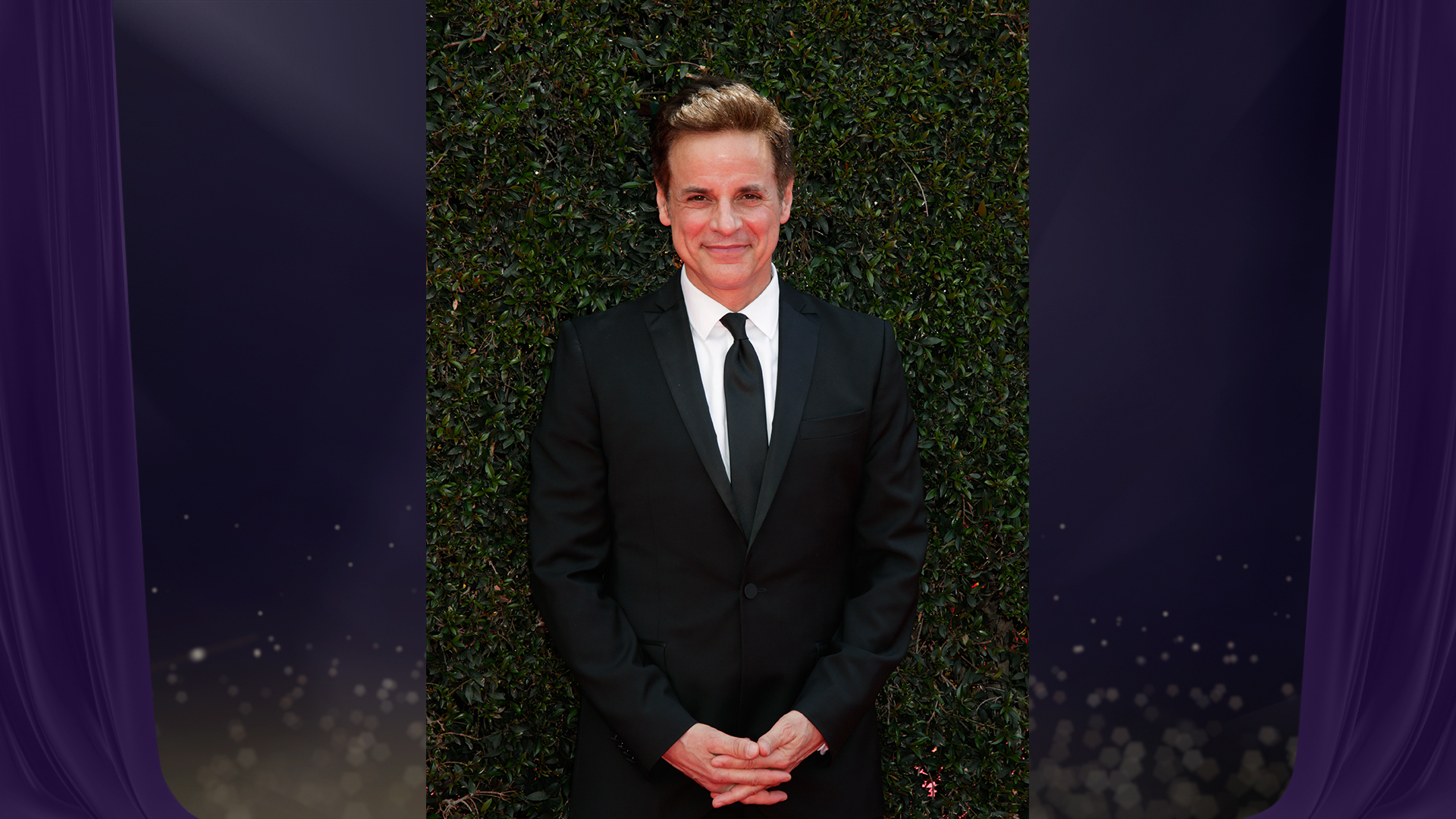 Christian LeBlanc from The Young and the Restless looks effortlessly handsome in a simple black tux.