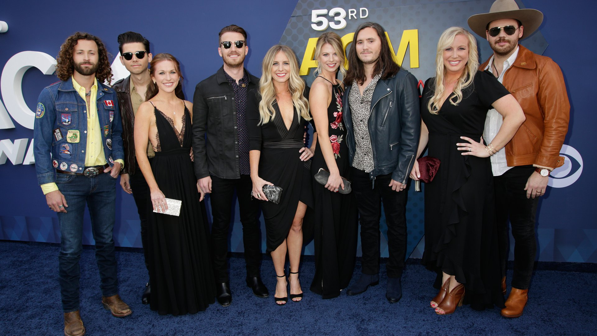 LANCO and their crew occupy a lot of stylish real estate on the ACM red carpet.