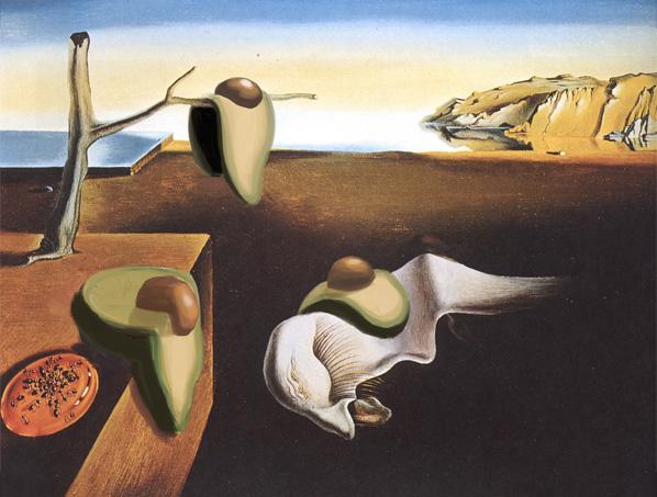 The Persistence of Memory with Avocado, Salvador Dali, 1931