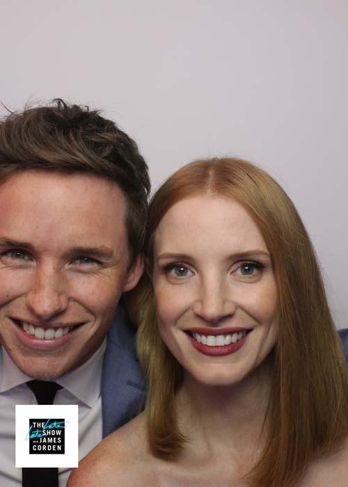 Eddie Redmayne and Jessica Chastain