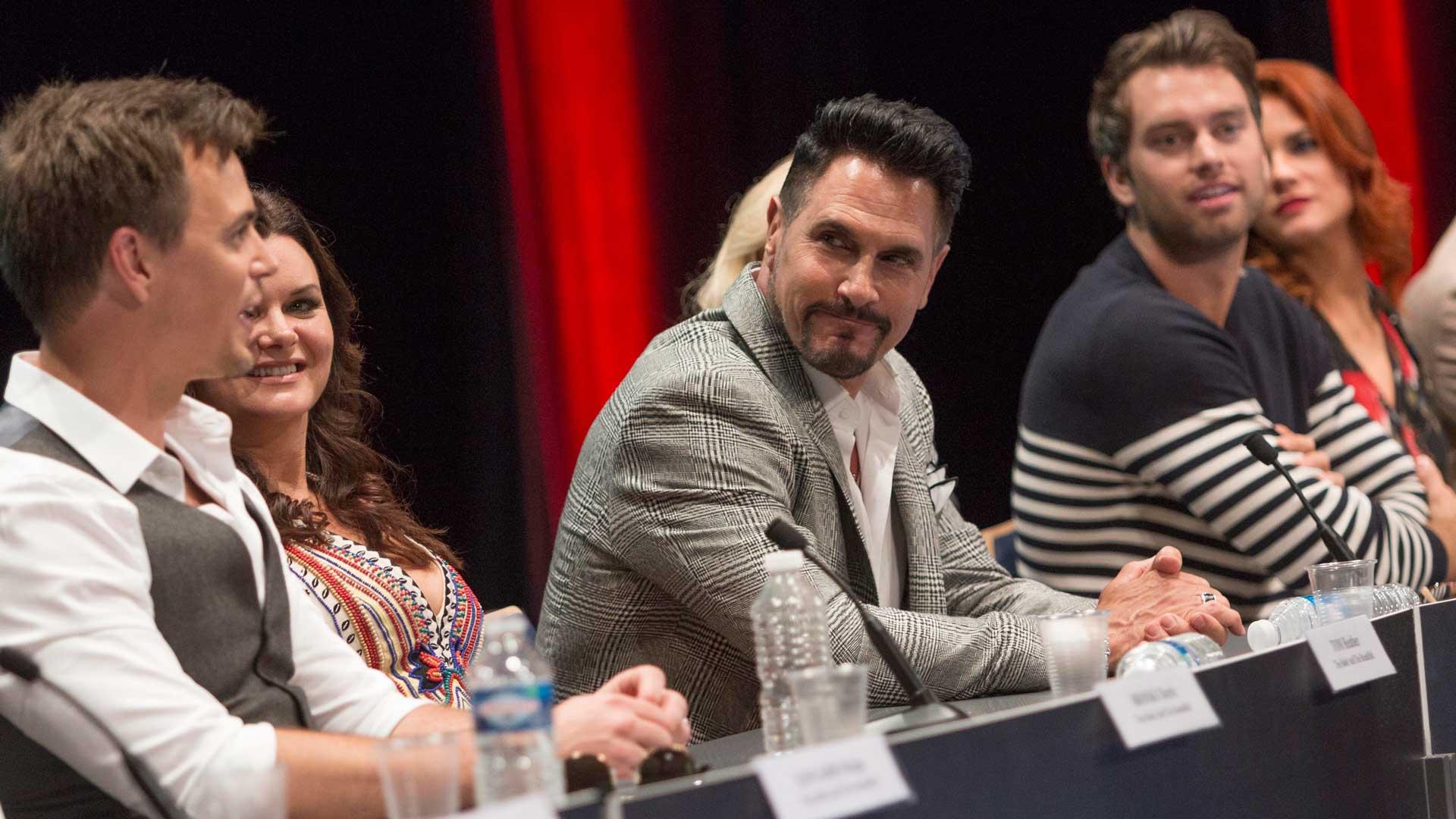 Members of the B&B cast field fan questions at the Grimaldi Forum.