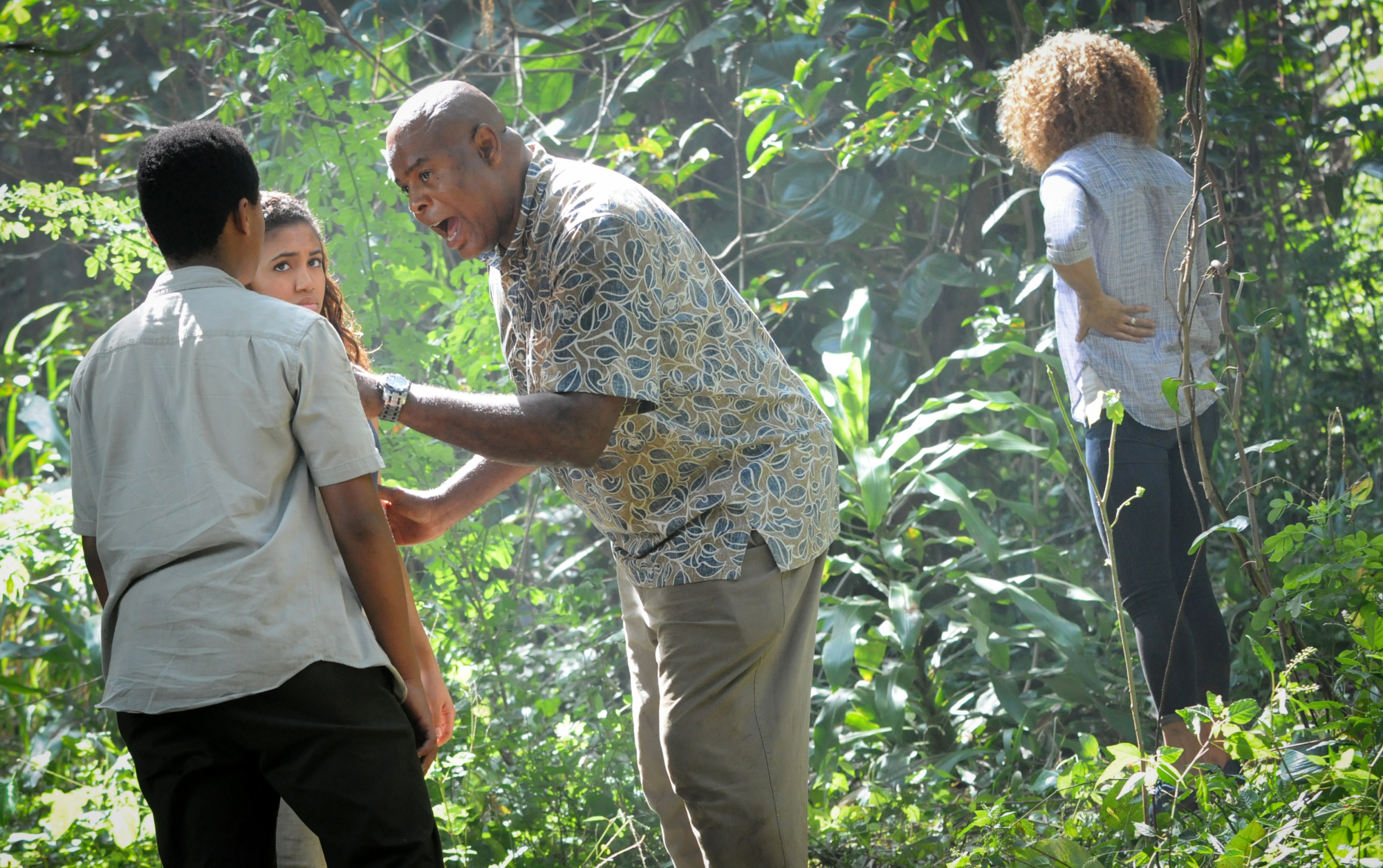 Chosen Jacobs as Will Grover, Paige Hurd as Samantha Grover, Chi McBride as Lou Grover, and Michelle Hurd as Renee Grover