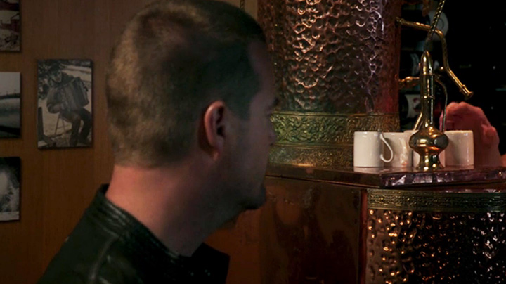 Callen's father was a loyal espresso drinker.
