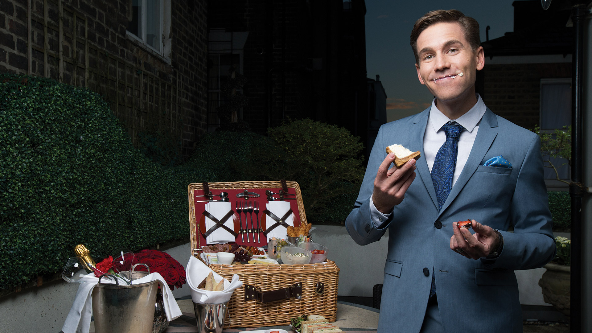 Brian Dietzen hosts a playful picnic