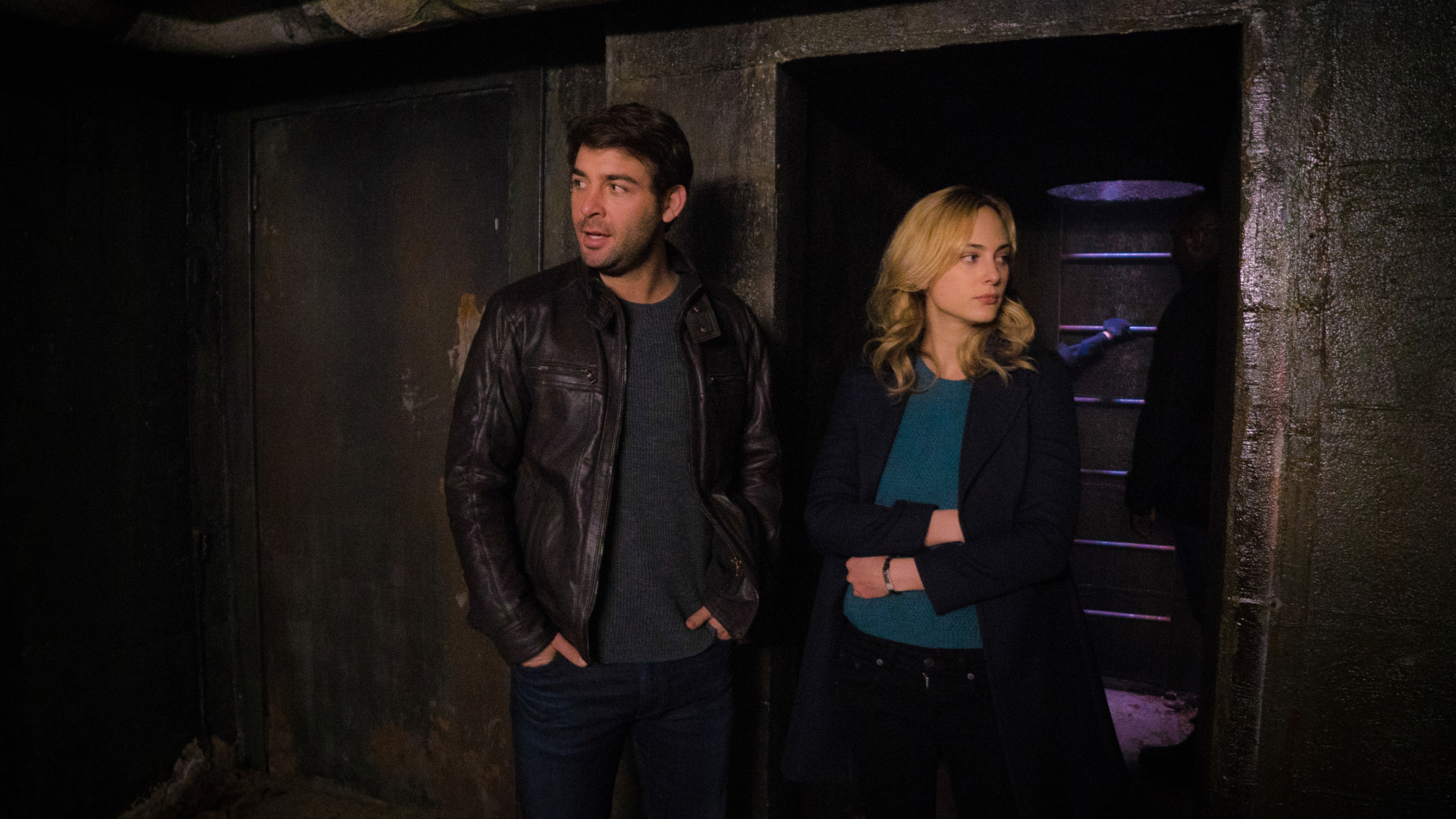 Jackson Oz and Chloe Tousignant survey the scene.