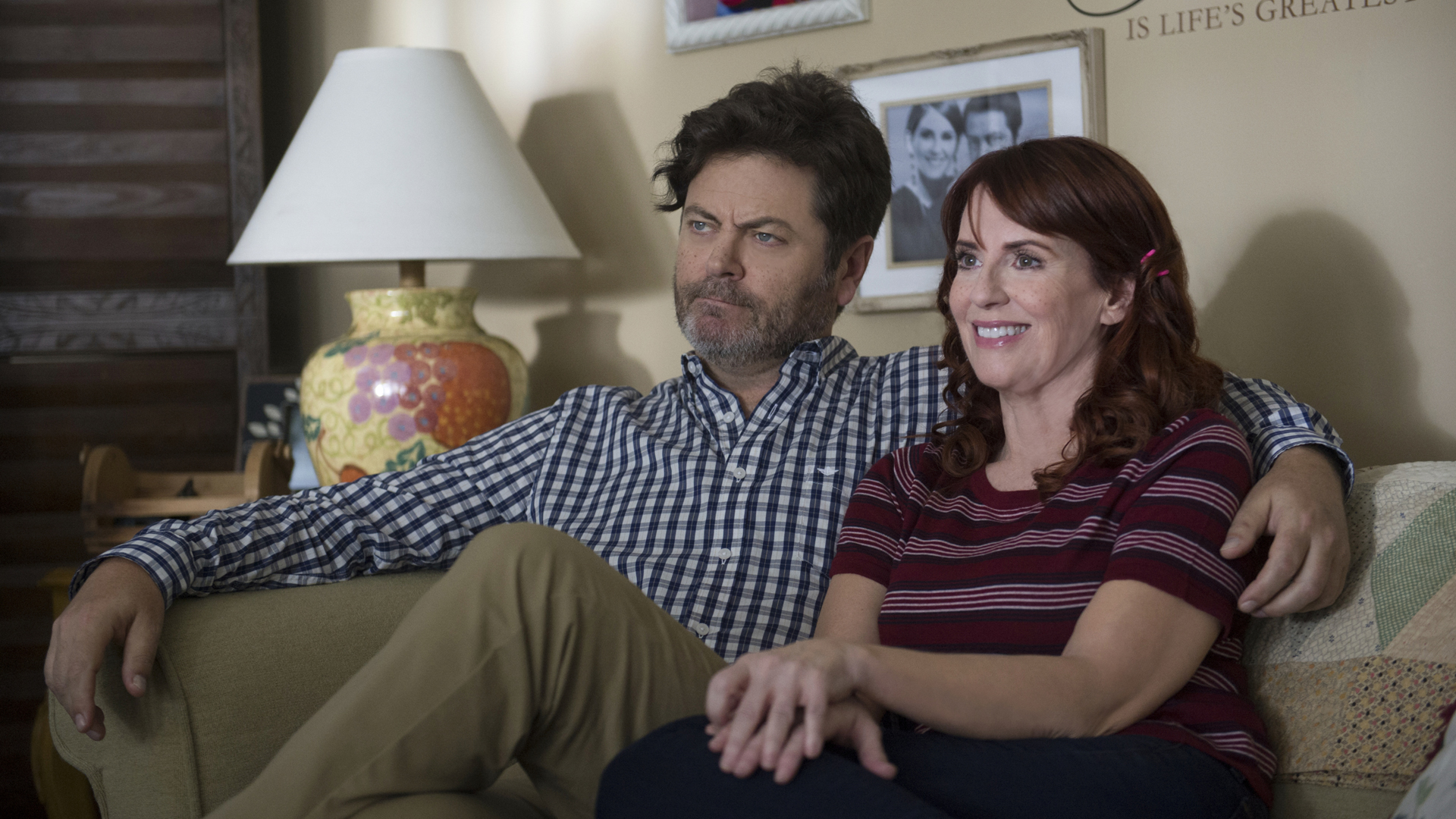 Nick Offerman and Megan Mullally in