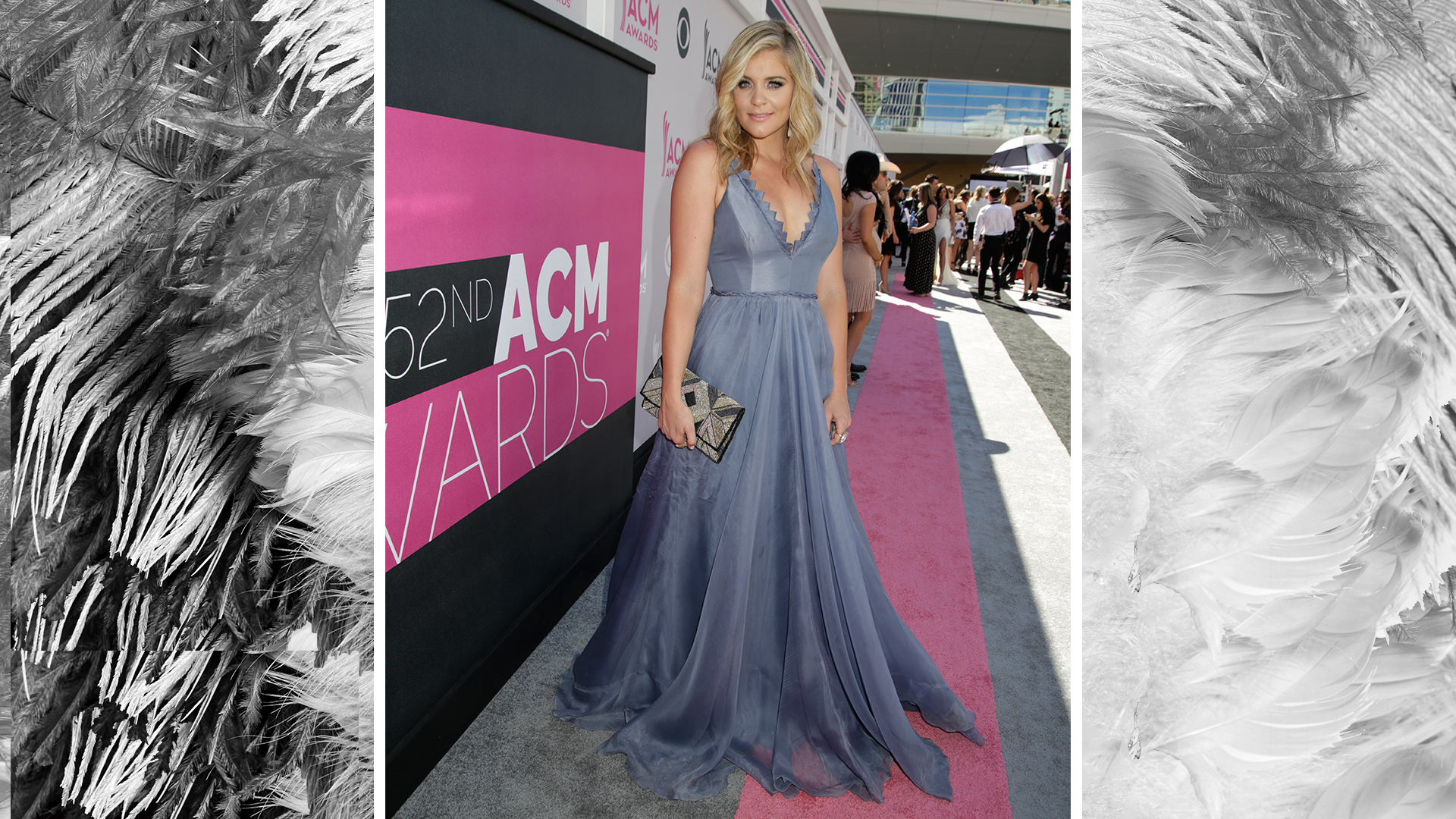 Lauren Alaina is a fairytale come true in a floor-length periwinkle gown.