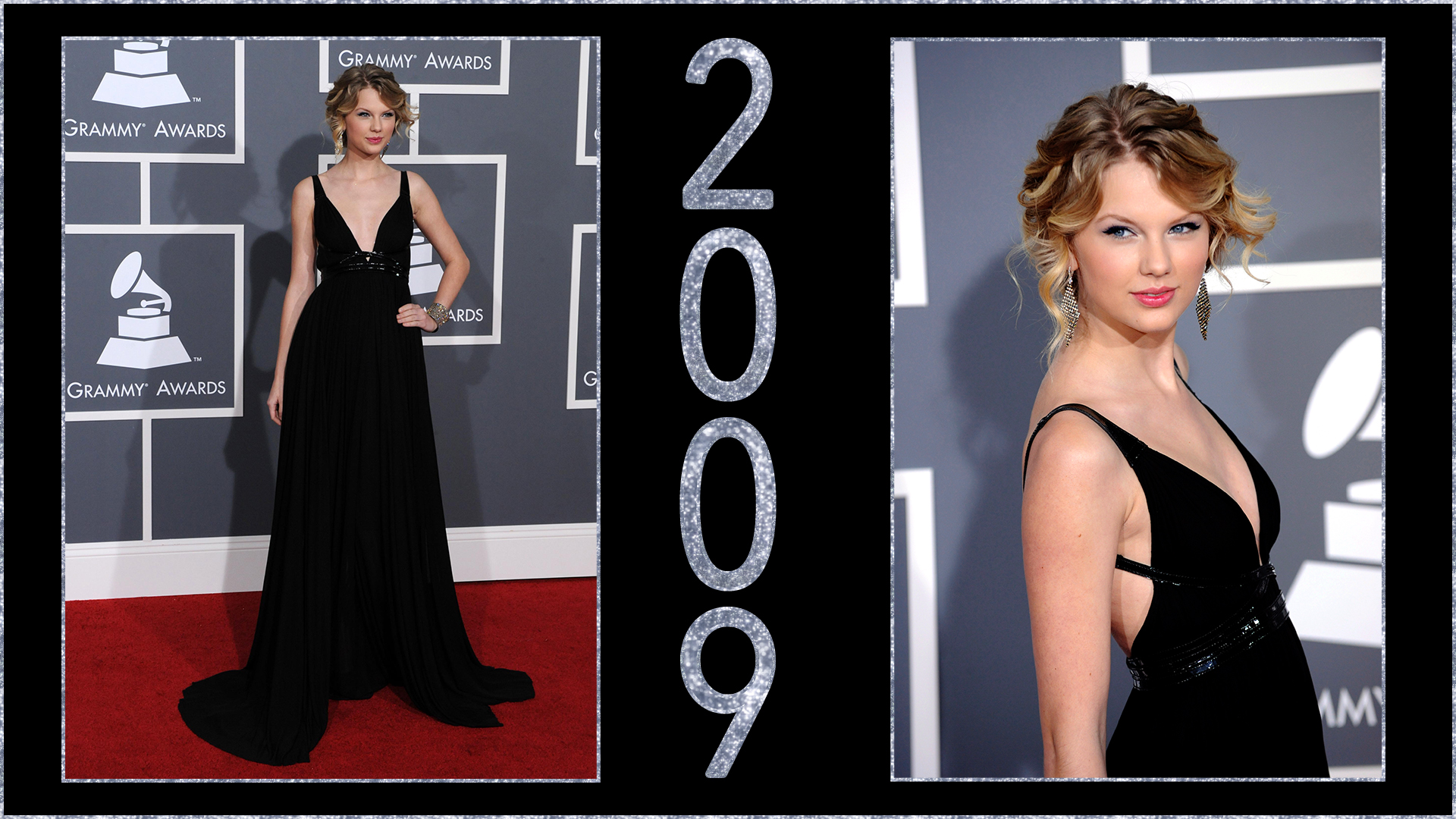 2009: Black dresses are