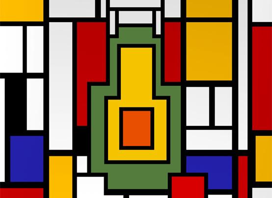 Composition with Avocado, Piet Mondrian, c. 1940