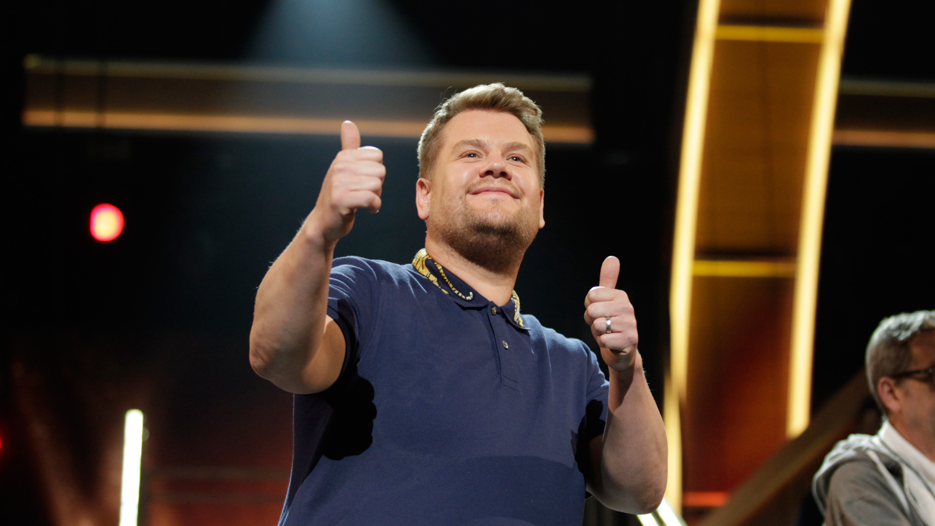 James Corden gives 2017 GRAMMY Awards rehearsals two thumbs up.