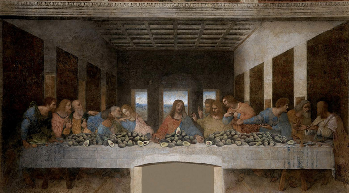 The Last Supper with Avocado, Leonardo da Vinci, 1495
