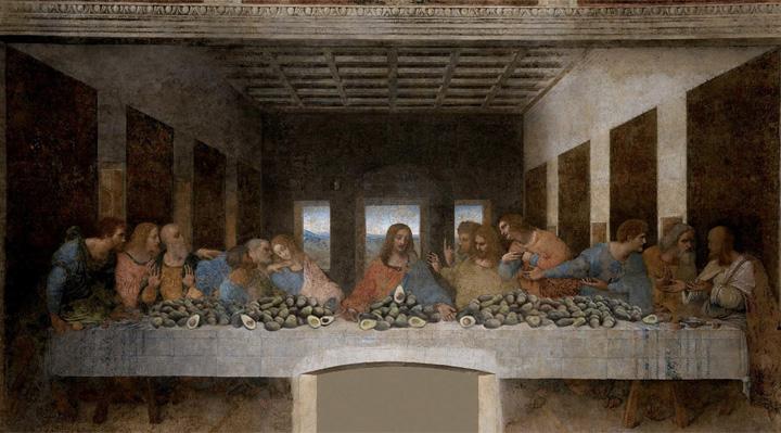 The Last Supper with Avocado, Leonardo da Vinci, 1495