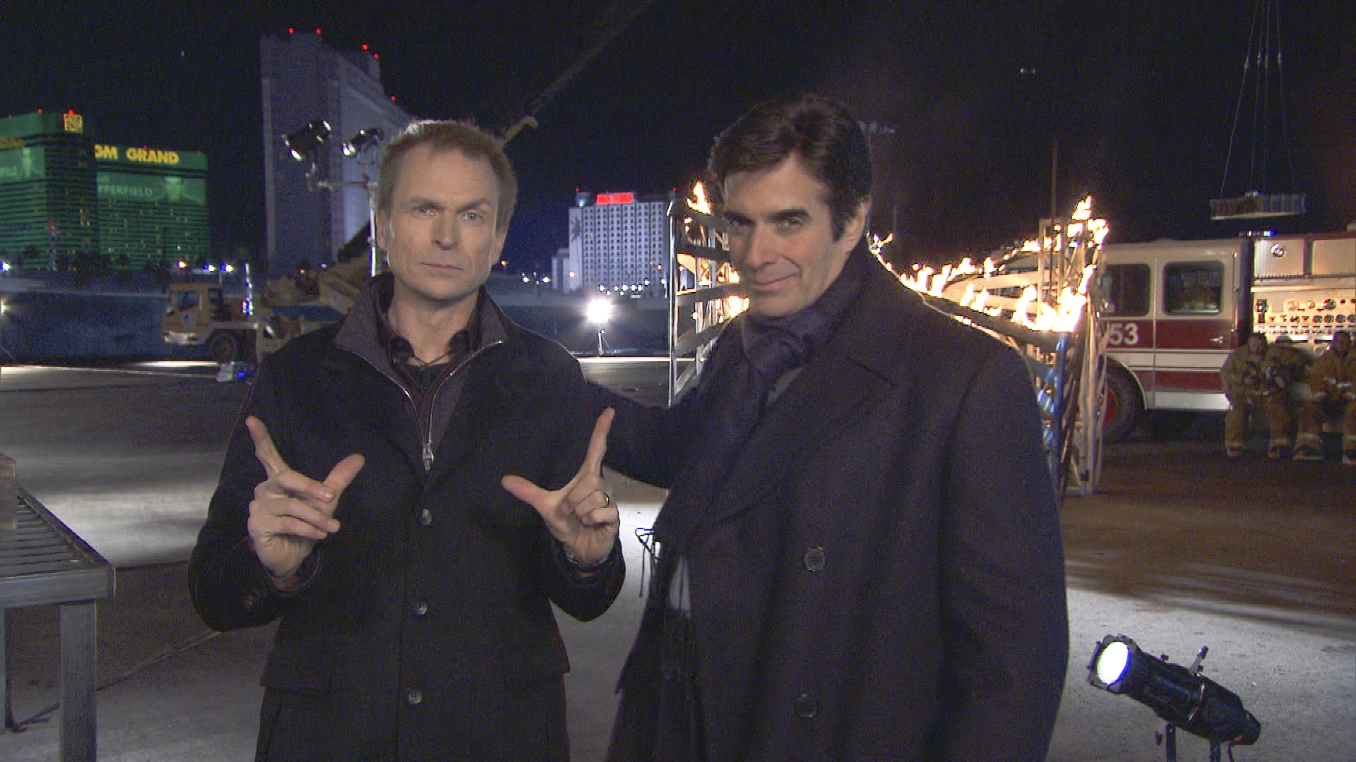 David Copperfield and Phil Keoghan on The Amazing Race: All-Stars Season Finale