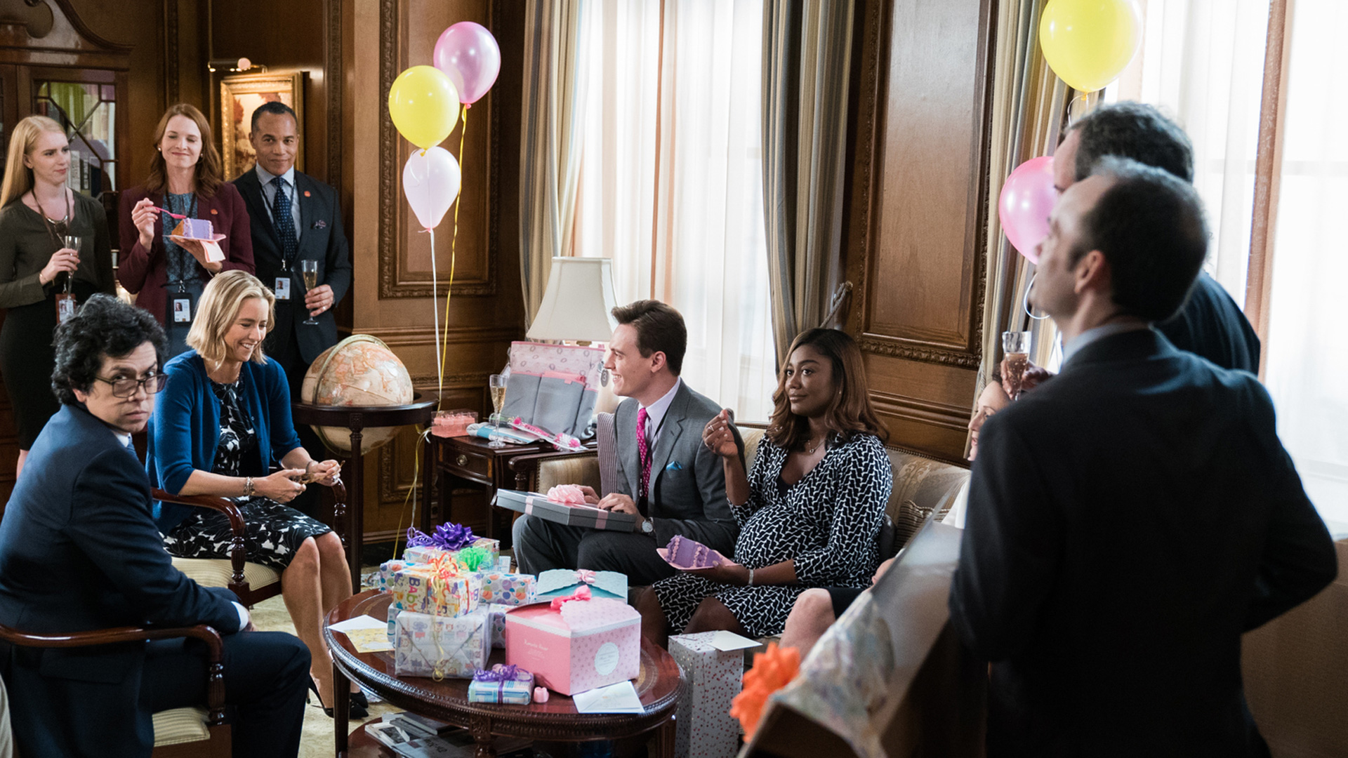 The Madam Secretary crew shoots its Season 4 episode,