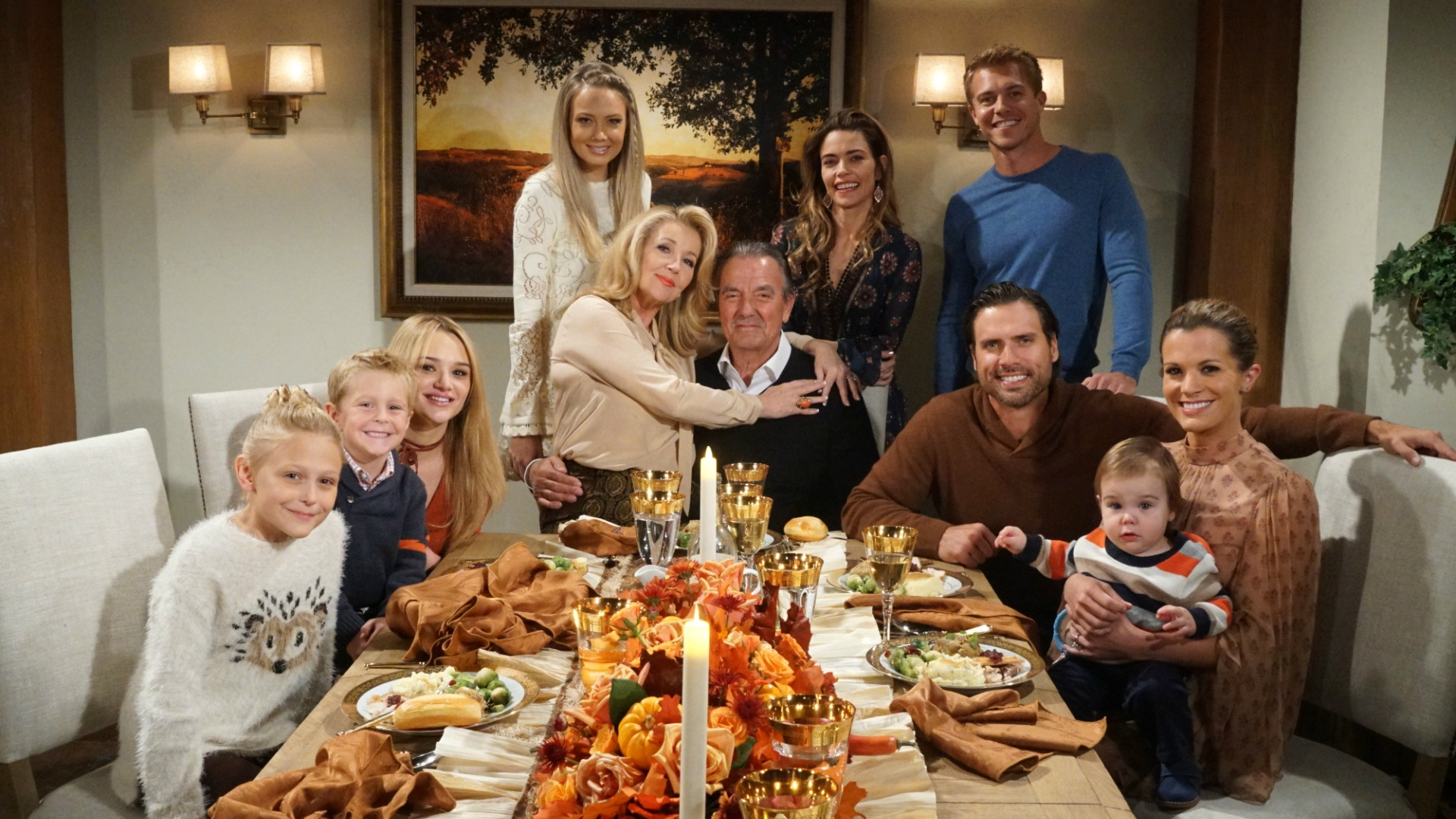 The residents of Genoa City put their differences aside to celebrate Thanksgiving.