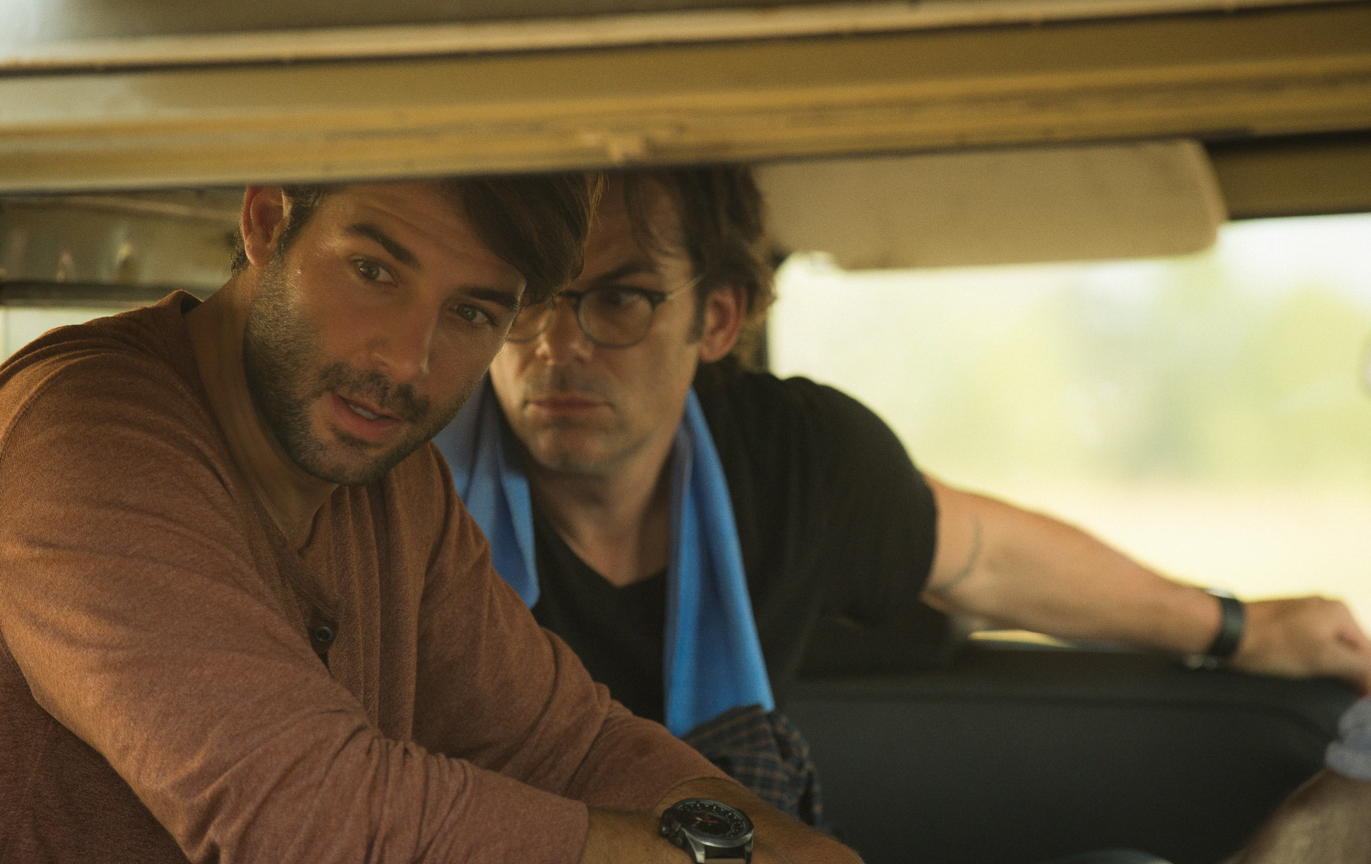 James Wolk as Jackson Oz and Billy Burke as Mitch Morgan.