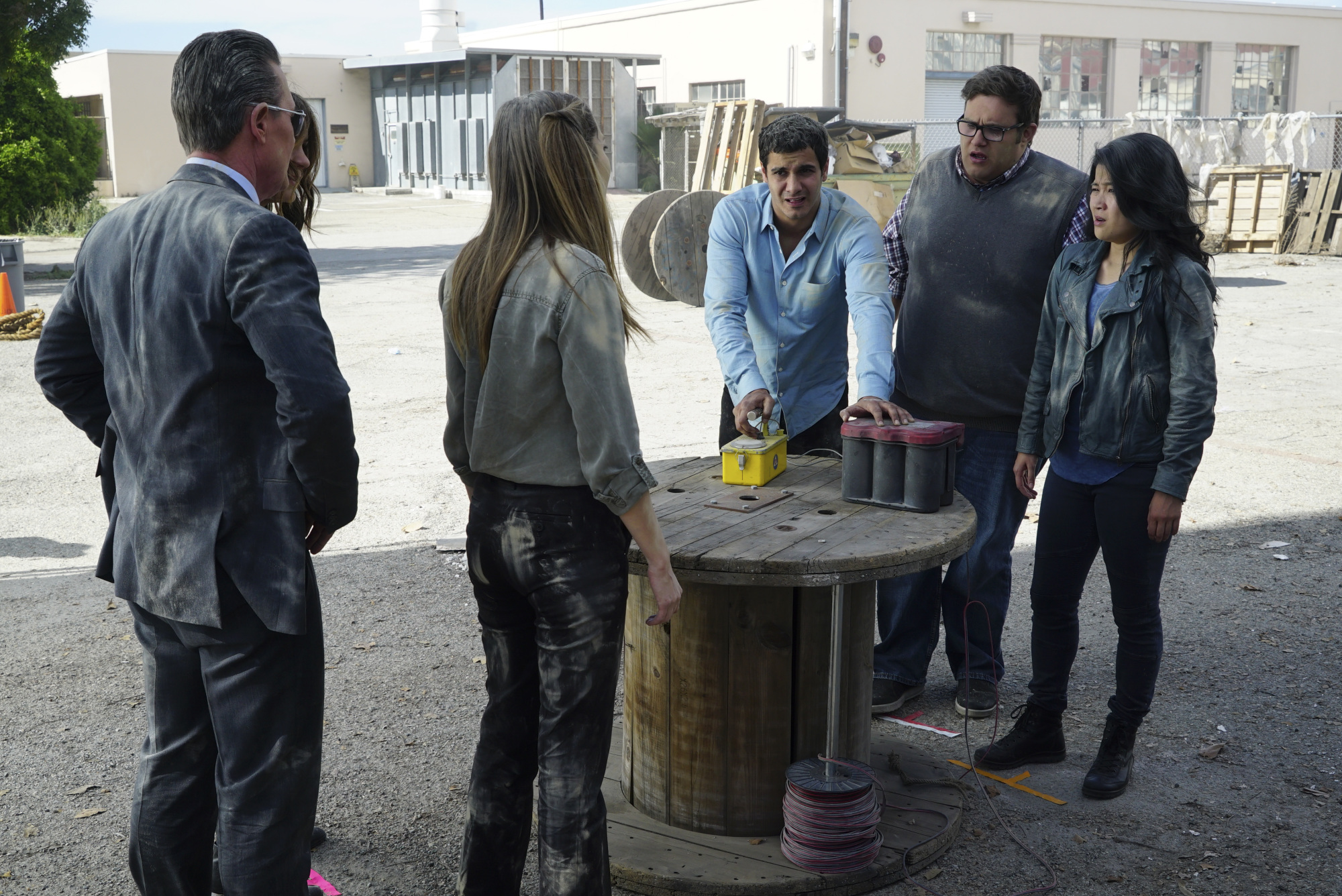 Robert Patrick as Agent Cabe Gallo, Katharine McPhee as Paige Dineen, Kathleen Munroe as Oksana, Elyes Gabel as Walter O'Brien, Ari Stidham as Sylvester Dodd, and Jadyn Wong as Happy Quinn