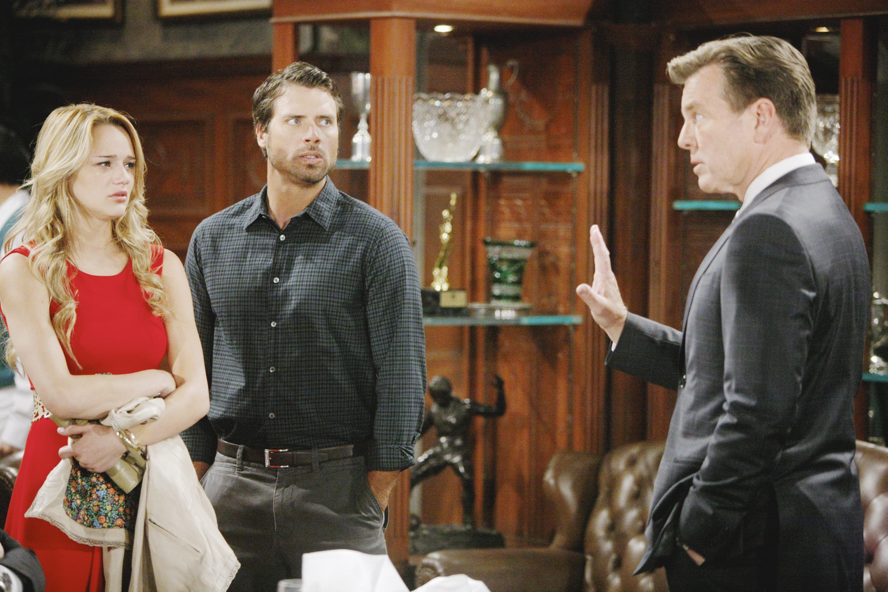 Summer and Nicholas Newman with Jack Abbott