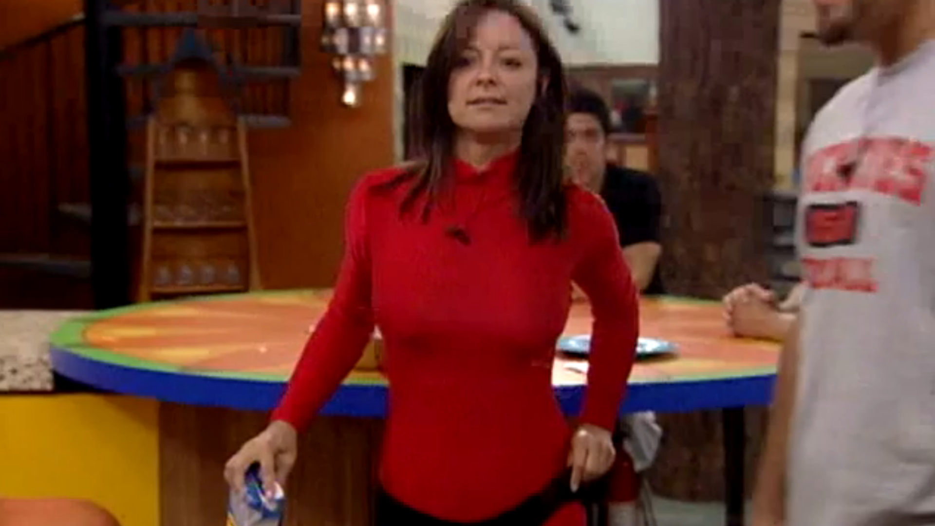 Sheila Kennedy's red unitard