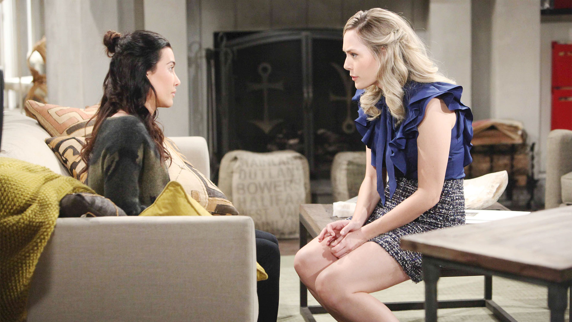 Steffy becomes defensive when her archrival, Hope, confronts her with a harsh fact.