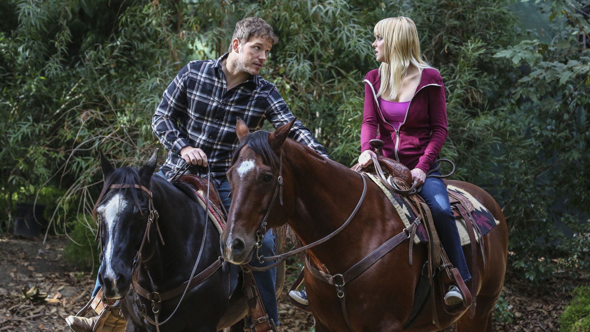 Nick and Christy spend an afternoon horseback riding.