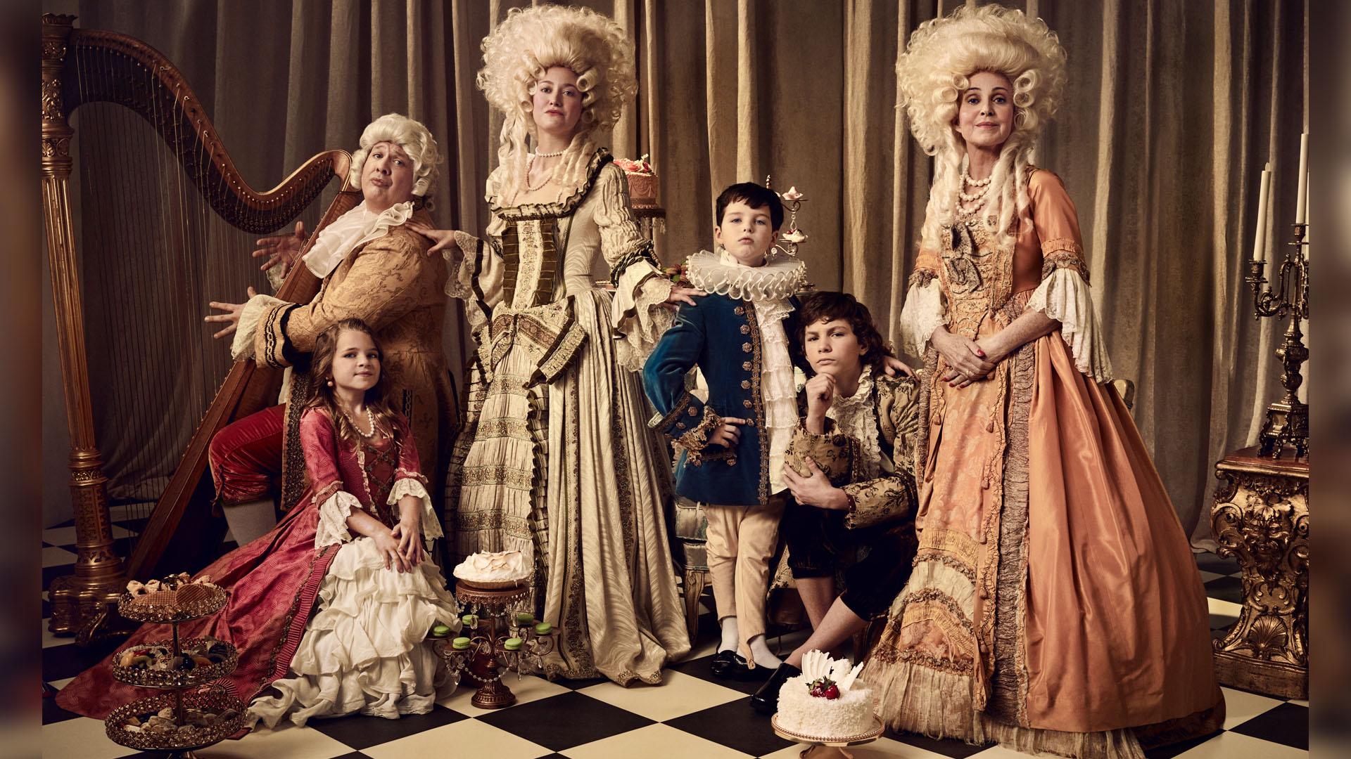 Young Sheldon stars as a Renaissance family