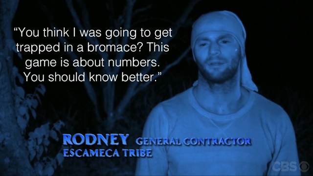 Rodney vents about Mike and says he could never get stuck in a bromance.
