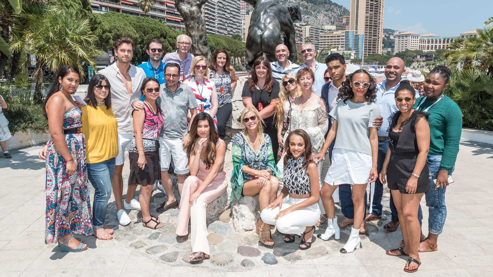 The cast of B&B hit the beautiful beaches of the French Riviera.