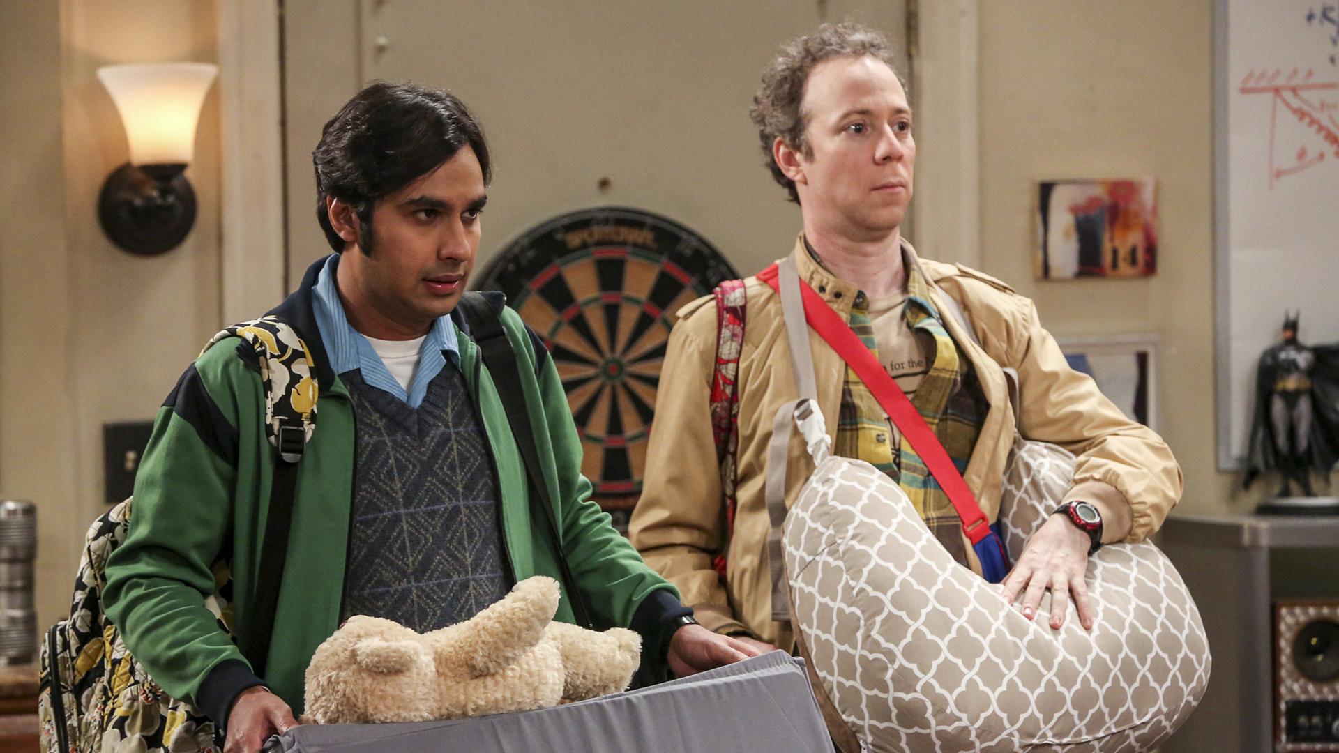 Raj and Stuart act as Halley's