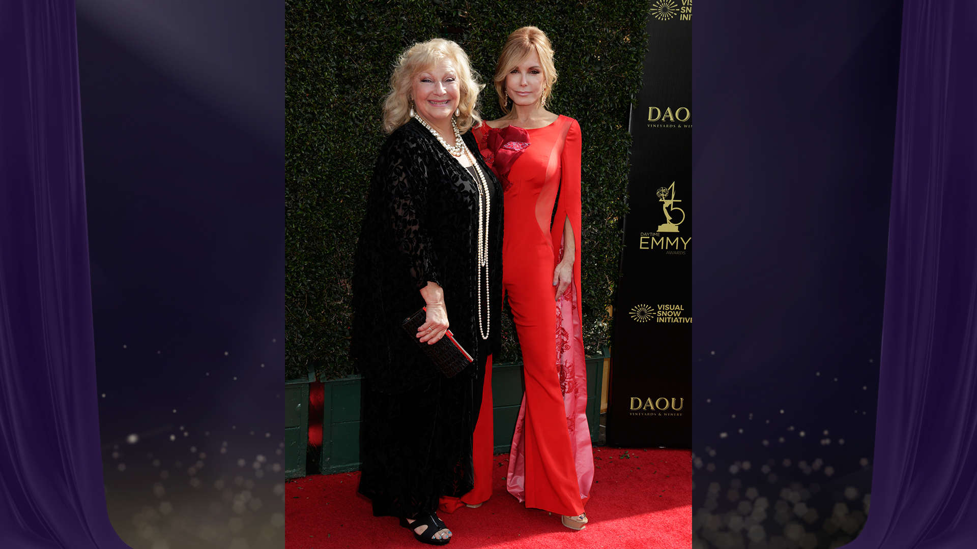 It's an Abbott family reunion on the red carpet when The Young and the Restless costars Beth Maitland and Tracey Bregman stop for a pic.
