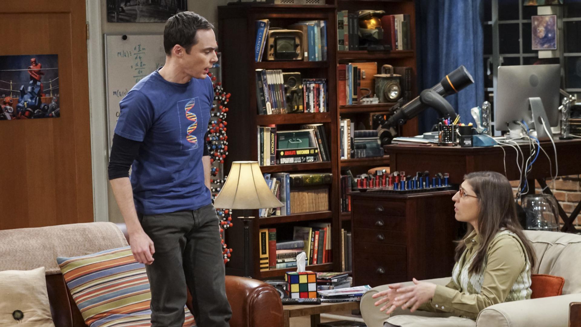 Sheldon confides in Amy.