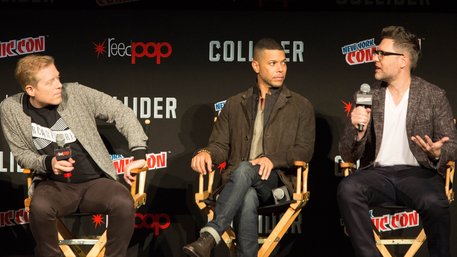 Anthony Rapp, Wilson Cruz, and Aaron Harberts