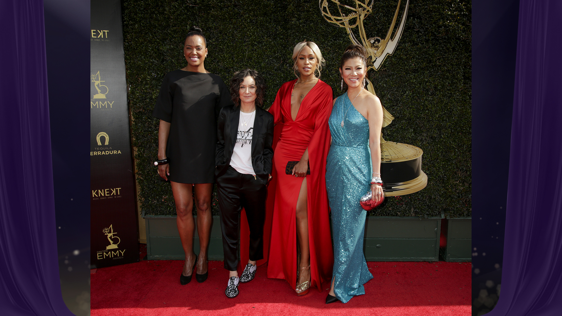Aisha Tyler joins The Talk hosts Sara Gilbert, Eve, and Julie Chen before heading into the Daytime Emmy Awards.