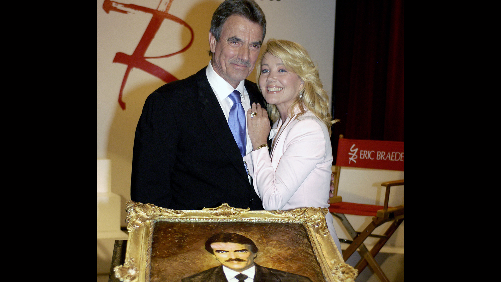 Melody Thomas Scott beams as Y&R honors her long-time co-star, Eric Braeden.
