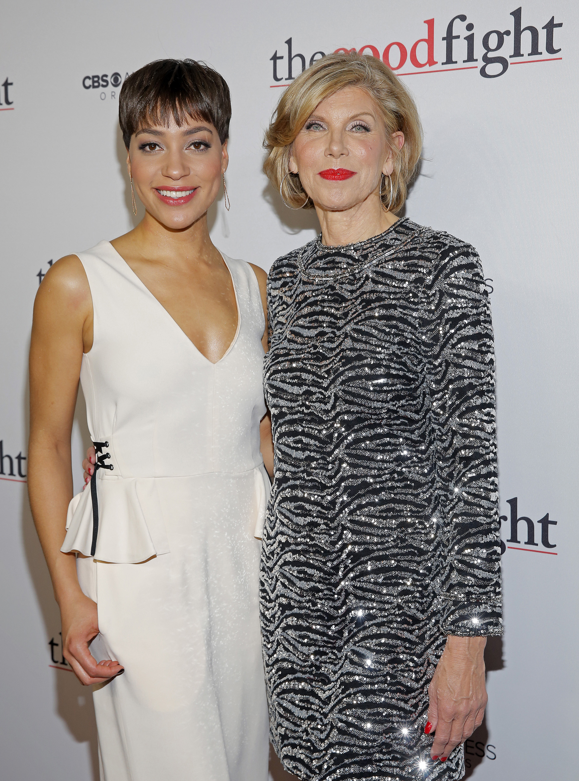 Cush Jumbo poses with co-star—and co-counsel—Christine Baranski.