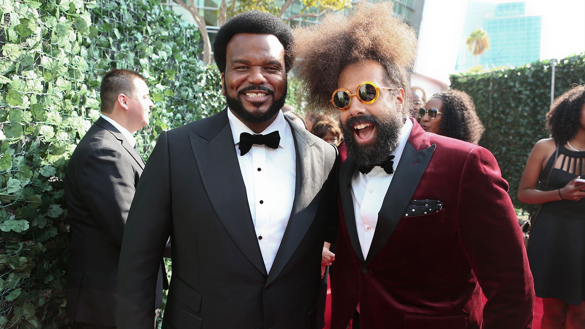 Craig Robinson from Ghosted and Reggie Watts from The Late Late Show