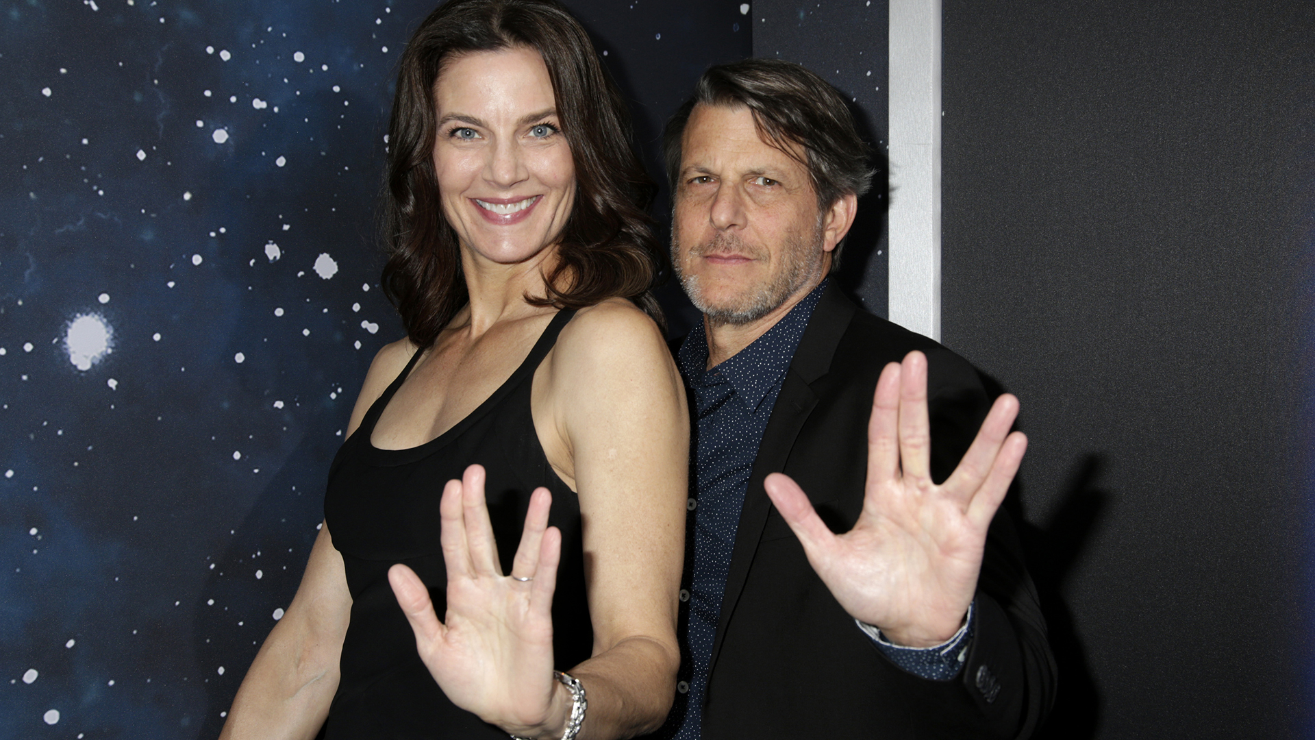 Terry Farrell from Star Trek: Deep Space Nine, and Director Adam Nimoy