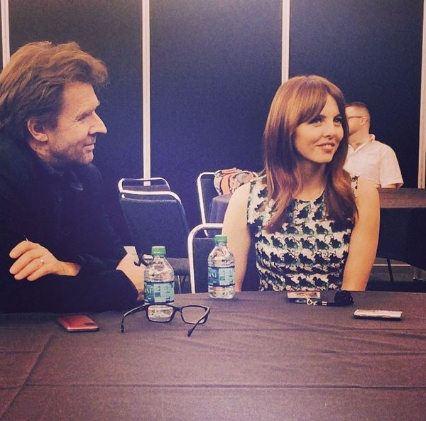 Executive Producer John Polson with Ophelia Lovibond
