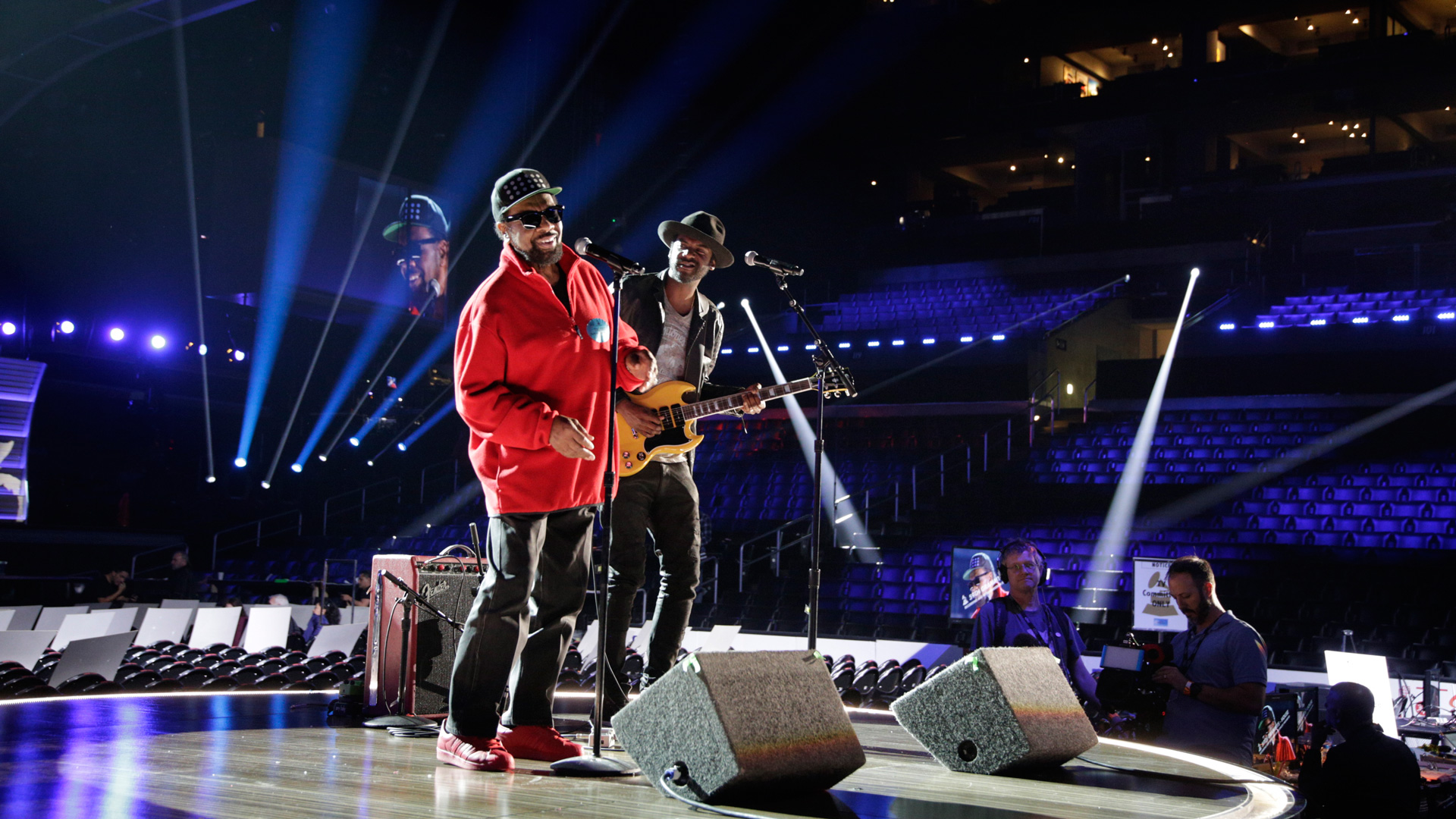 Two-time GRAMMY nominee William Bell and guitarist Gary Clark, Jr. practice their collaboration.