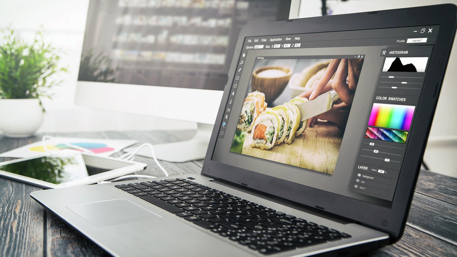 Digital photo editing software