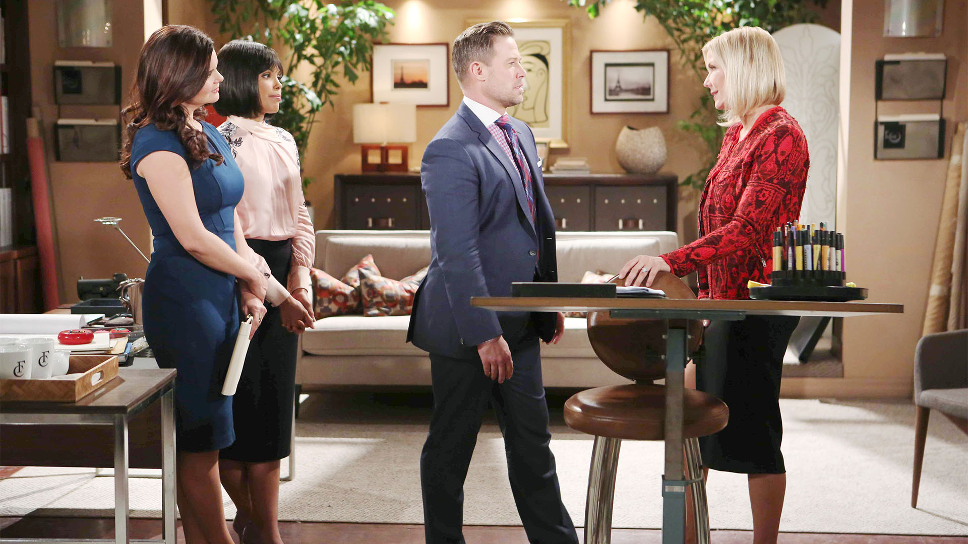 Rick gives Brooke a stipulation when she asks him for his blessing before marrying Ridge.