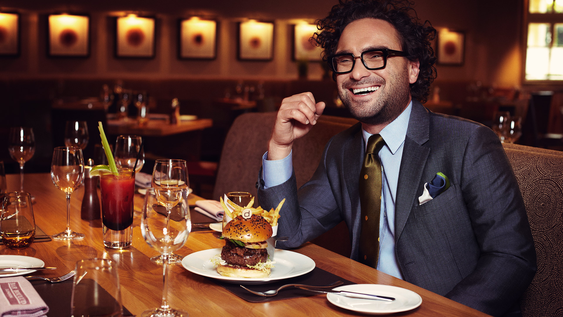 Burger bliss with Johnny Galecki