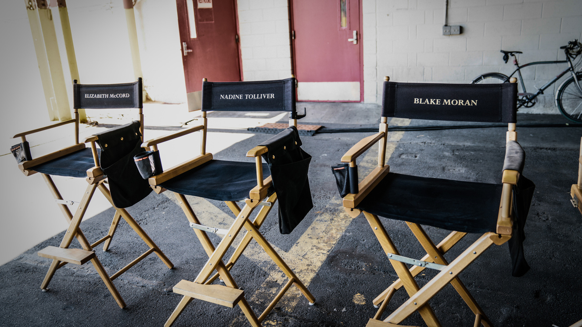 Everybody gets a chair on the set of Madam Secretary.